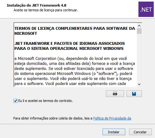 Instalação .NET Framework