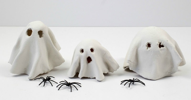 clay tealight ghosts