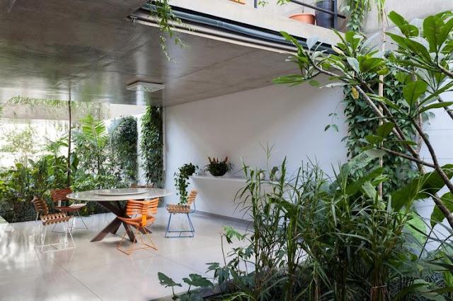 rumah minimalis desain teras dan ruang santai