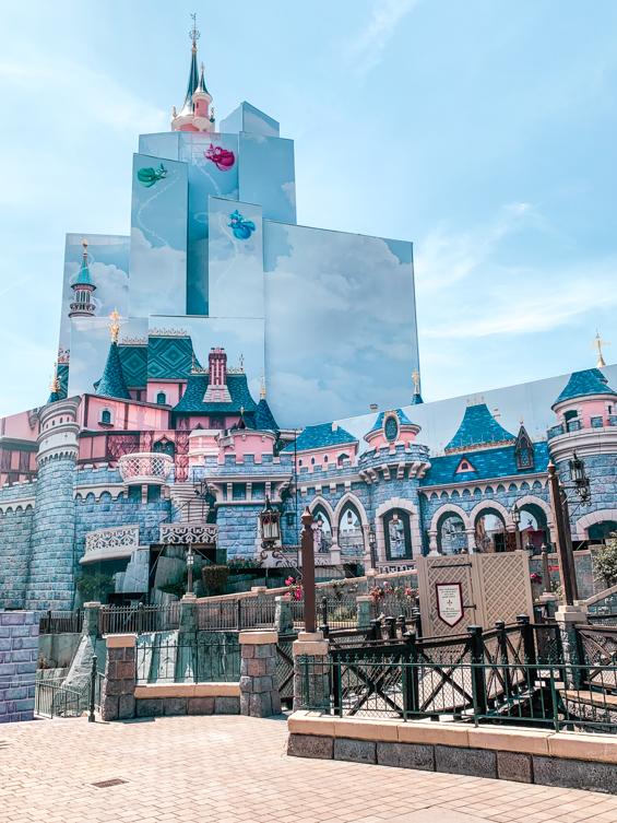 Disneyland Paris Sleeping Beauty Castle - Schloss Renovierung