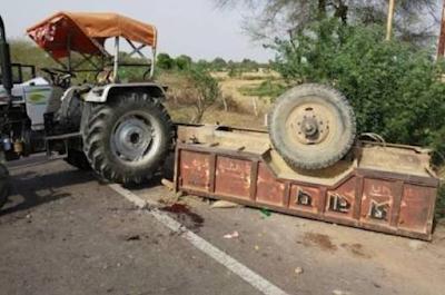 बड़ी खबर मूर्ति विसर्जन कर लौट रही ट्रॉली पलटी 35 घायल, 1 की मौत | PICHORE NEWS
