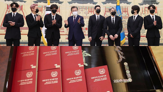 BTS Receives Diplomatic Passports as Special Presidential Envoy