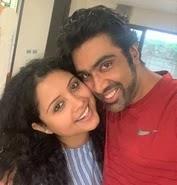 ravichandran ashwin with her wife