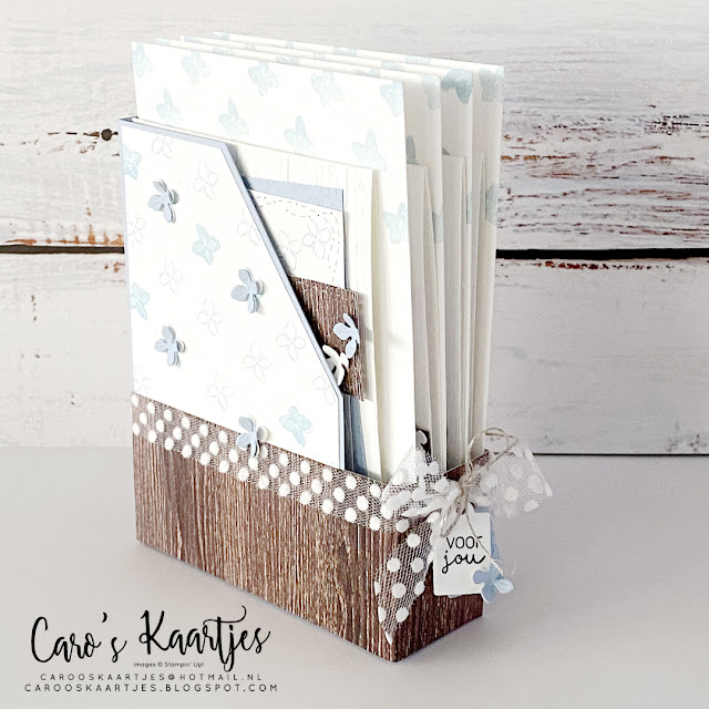 Mini Magazine Holder met kaartenset - Hydrangea Heaven - Hemelse Hortensia - Stampin' Up! - Caro's Kaartjes