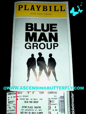 Blue Man Group Playbill for Astor Theatre Performance in New York City