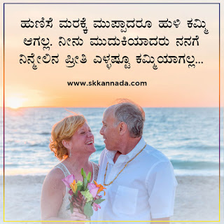 Aged Lovers Love Quotes in Kannada