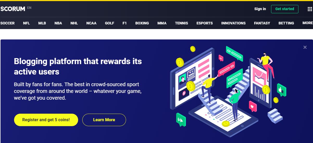Top 2 Best decentralized Blockchain Based Sports Social Media