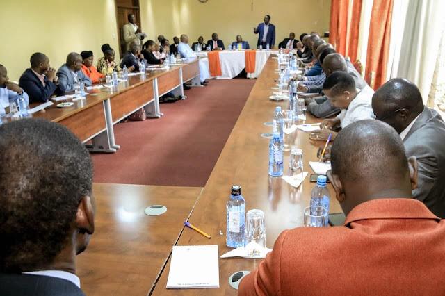 Raila Odinga meeting Maa leaders in preparation for BBI mega rally in Narok. PHOTO | BMS