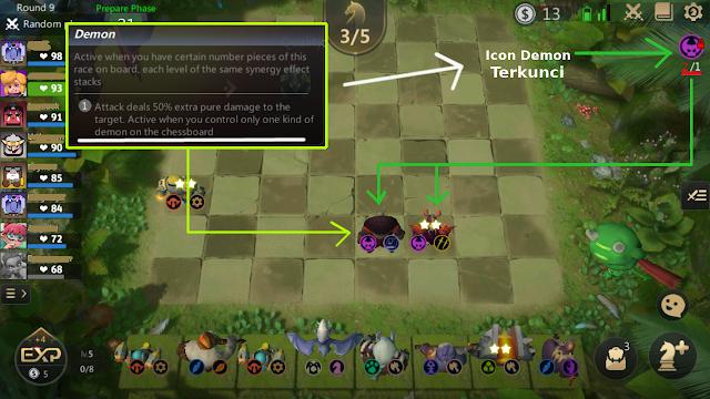 Kenapa Icon Unit Ras Demon Auto Chess Mobile Terkunci?