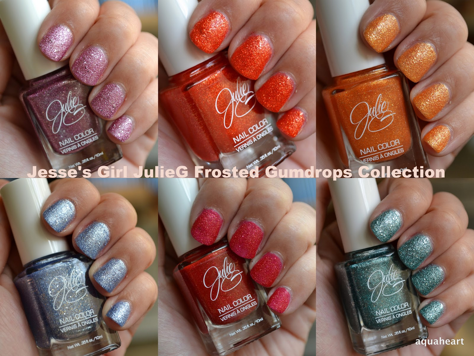 Aquaheart: Jesse\'s Girl JulieG Frosted Gumdrops Nail Collection ...