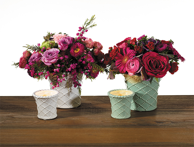 Accent Decor's Brighton Pot - traditional spring flower pot for Easter or Mother's Day