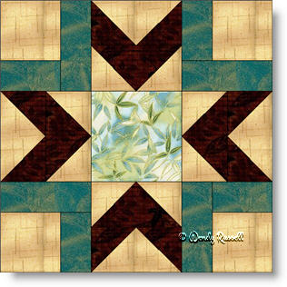 Bright Morning Star quilt block image © Wendy Russell