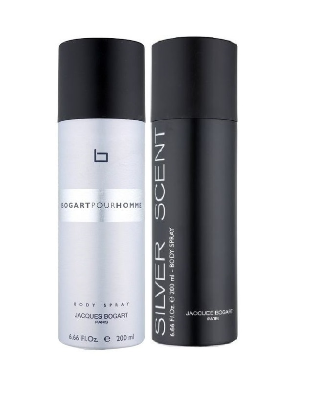 Pack Of 2 - Bogart Pour Homme And Silver Scent Body Spray 200 ml
