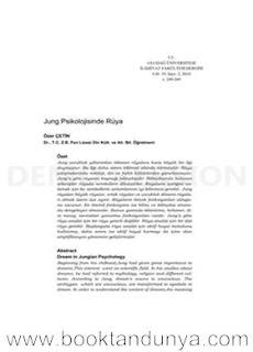 Carl Gustav Jung - Jung Psikolojisinde Rüya (makale)