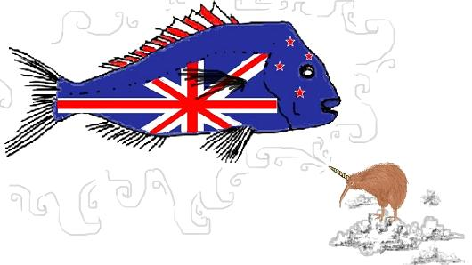 New Zealand flag suggestion Snapper Quota Unicorn. New Zealanders are very interested in Snapper quota, and what better way to bring it to the people than this country's native bird - the Unihorned Kiwi bird. Laser Kiwi. marchmatron.com