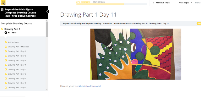 drawing lesson from online