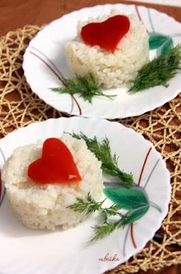 Рис с сердечком из болгарского перца