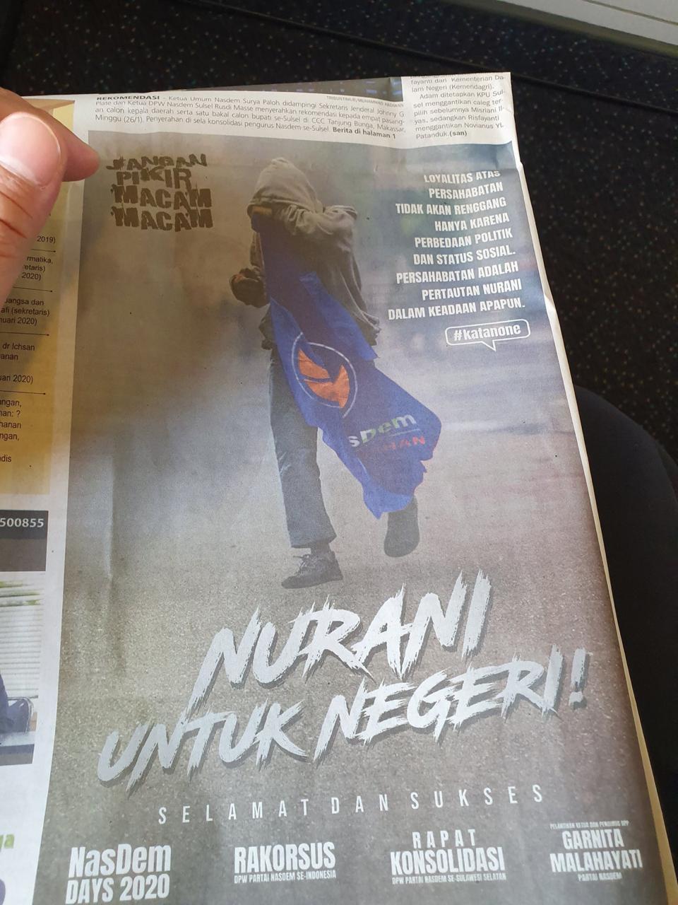 """Viral Nasdem Edit Foto Lutfi """"Siswa yang Disiksa Polisi"""" Buat Iklan"""