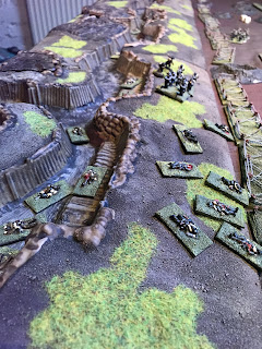 German and British bodies litter the trenches
