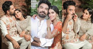 New Beautiful Clicks of Iqra Aziz and Yasir Hussain