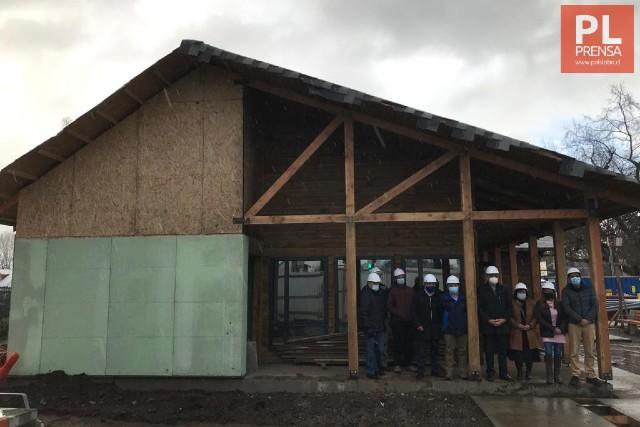 77% de avance en construcción de Farmacia vecina de Rahue