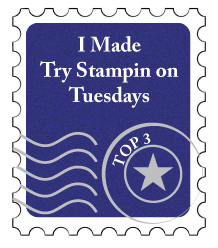 I was a top three at Try Stampin on Tuesdays!!