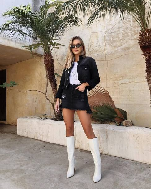 WHITE KNEE BOOT FASHION TREND