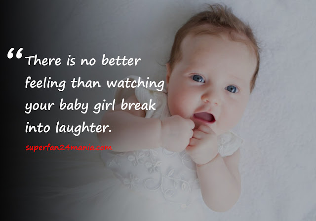 There is no better feeling than watching your baby girl break into laughter.