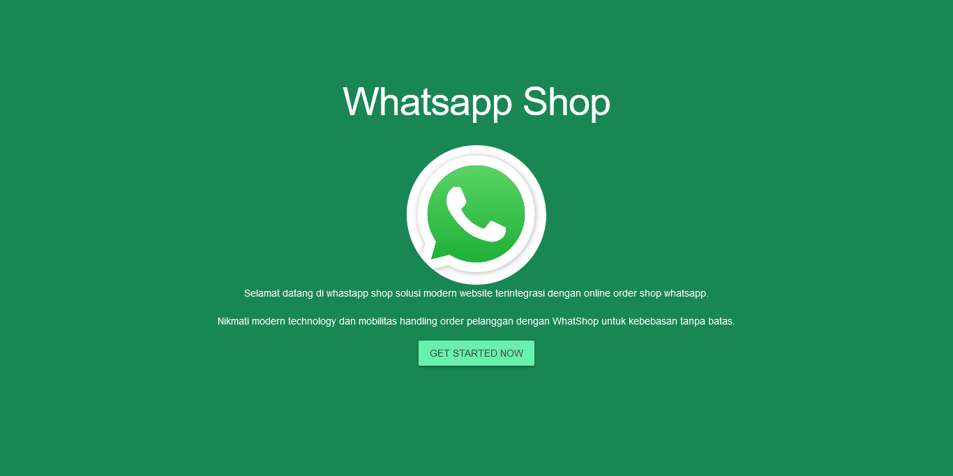 whatsapp online shop order