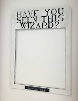 Cadre fait-maison utilisé pour créer un photobooth Harry Potter