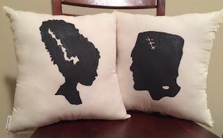 frankenstein bride of frankenstein pillows etsy halloween decorations
