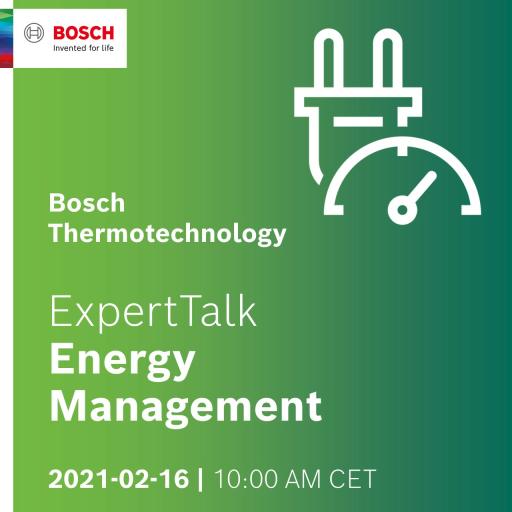 """Bosch Thermotechnology ExpertTalk"" – 16 de fevereiro 2021"