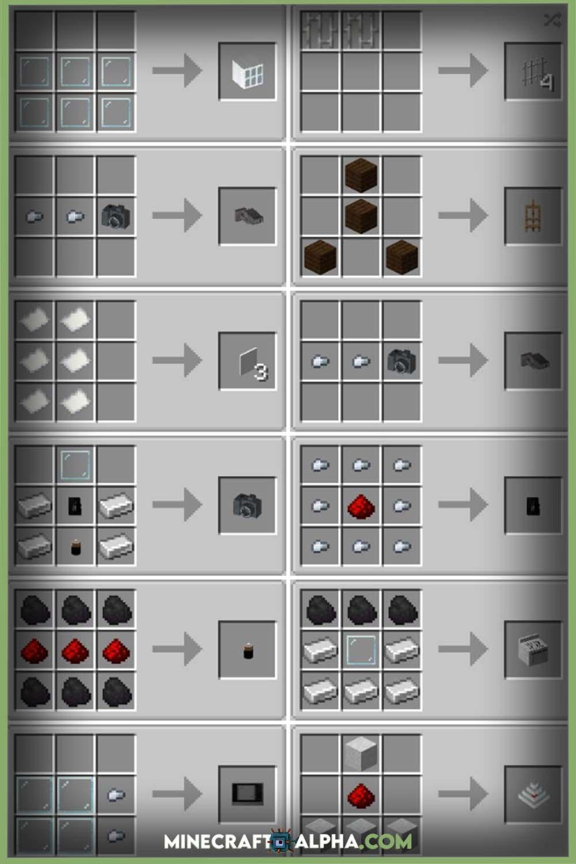 Minecraft Modern Life Mod Recipes