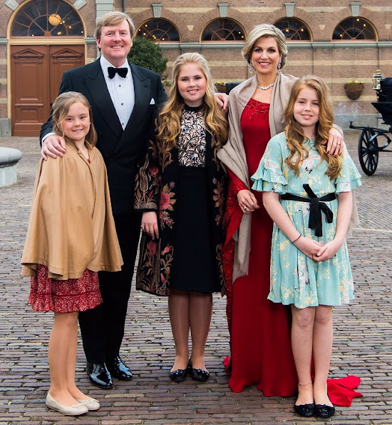 Queen Letizia, Grand Duchess Maria Teresa, Crown Princess Victoria and Princess Mette-Marit at the Private Birthday Party for King Willem.