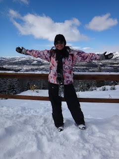 Muita neve no Parque Piedras Blancas em Bariloche