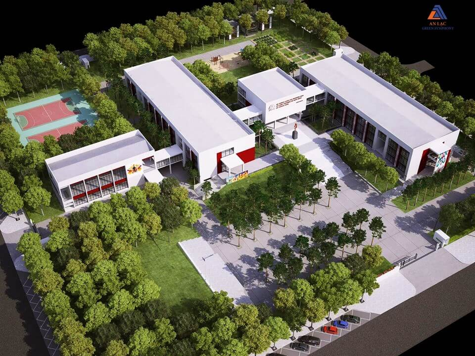 Trường học liên cấp được xây trong khu đô thị Vân Canh
