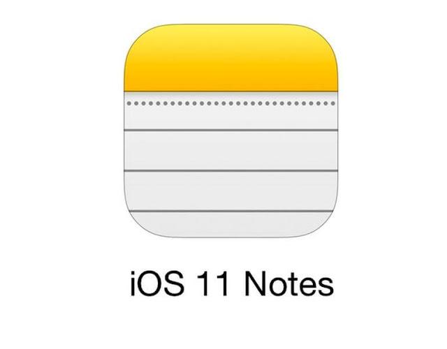 كيفية اضافة صور وفيديو ومستندات في ملاحظات Notes على ايفون في iOS 11