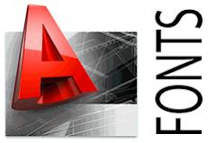 Font Autocad SHX fonts