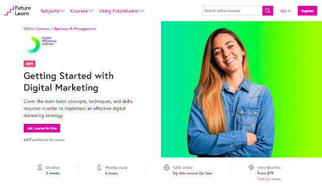 Getting Started with Digital Marketing by FutureLearn