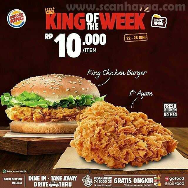 Burger King Promo King Of The Week Periode 22 - 28 Juni 2020 3