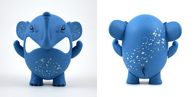 Tenacious Toys Exclusive Charlie the Angry Elephant Blue Edition Vinyl Figure by AngelOnce x UVD Toys