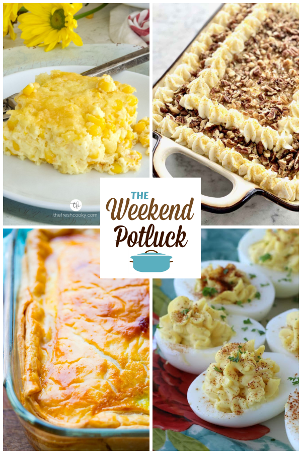 Easy Corn Casserole, A virtual recipe swap with Loaded Carrot Cake, Southern Italian Easter Pie, Classic Deviled Eggs and dozens more!