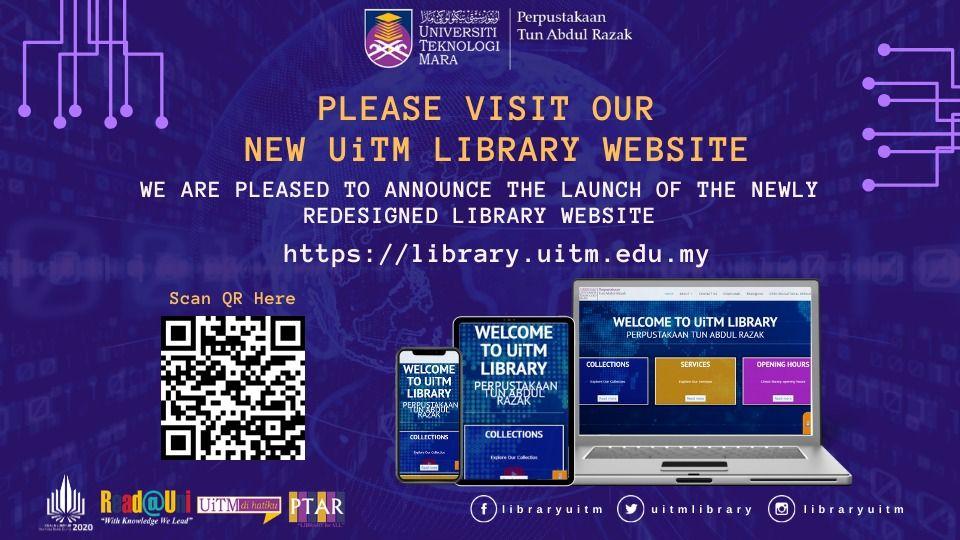 New UiTM Library Website