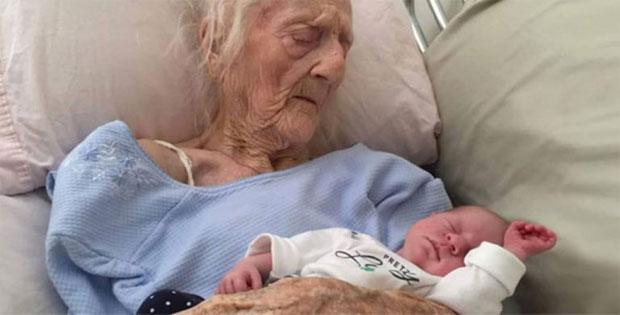 Mulher de 101 anos deu à luz a um maravilhoso bebê - Falso