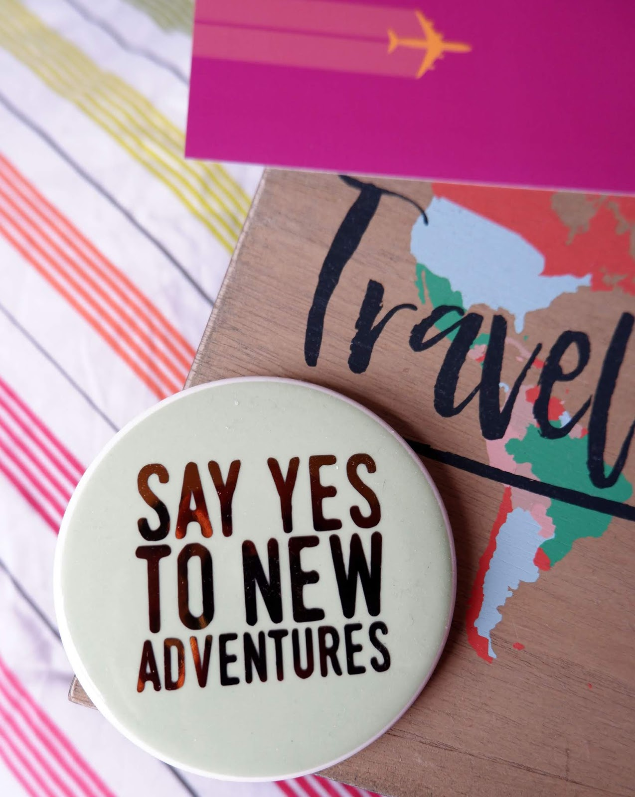 Travel-themed home decor