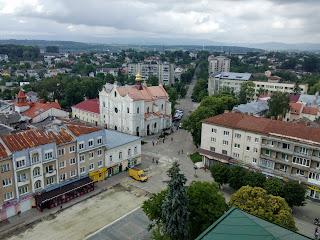 Дрогобыч. Львовская обл. Площадь Рынок с высоты часовой башни Ратуши