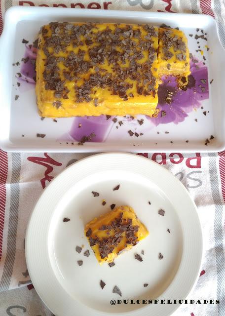 Tarta de galletas y vainilla con sólo tres ingredientes
