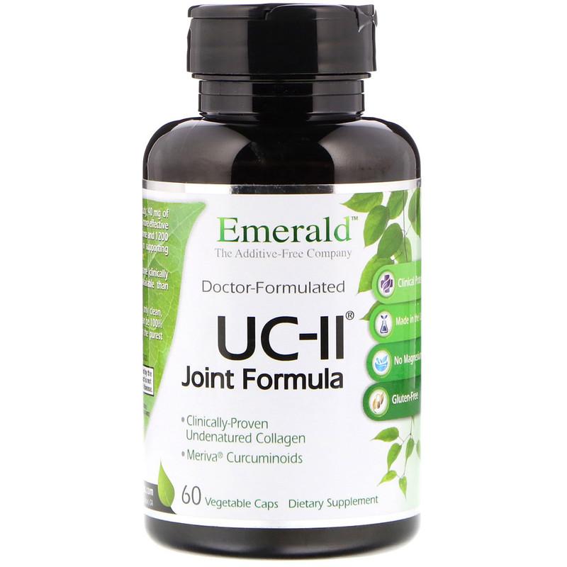 Emerald Laboratories, Формула для суставов UC-II, 60 капсул в оболочке растительного происхождения