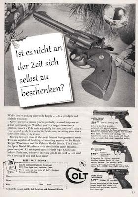 Selbstmord witzig - Pistole kaufen - sich selbst beschenken Werbe Spruch lustig