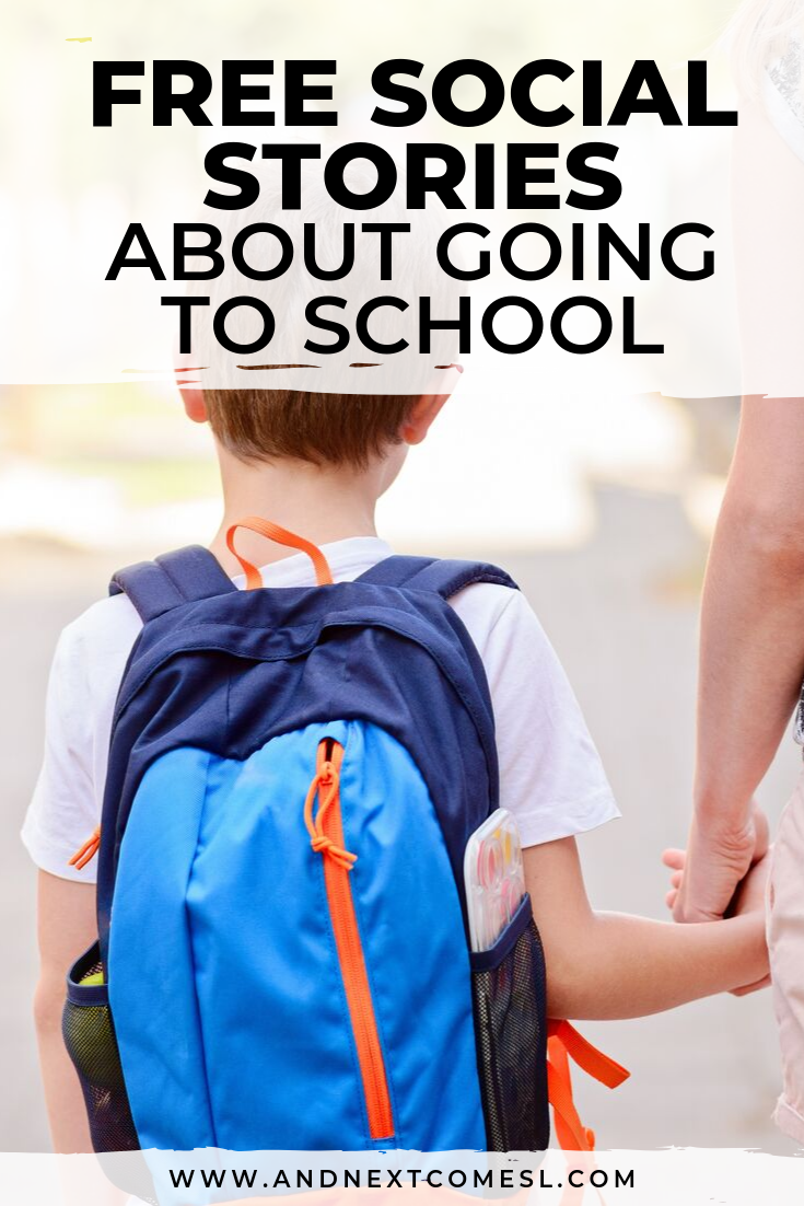 Looking for a going to school social story? Try one of these free social stories about going to school